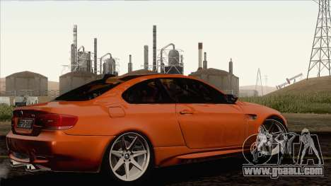 BMW M3 E92 2008 Vossen for GTA San Andreas back left view