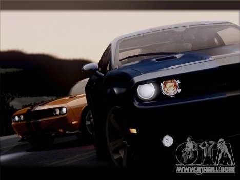 Dodge Challenger SRT8 2012 HEMI for GTA San Andreas interior