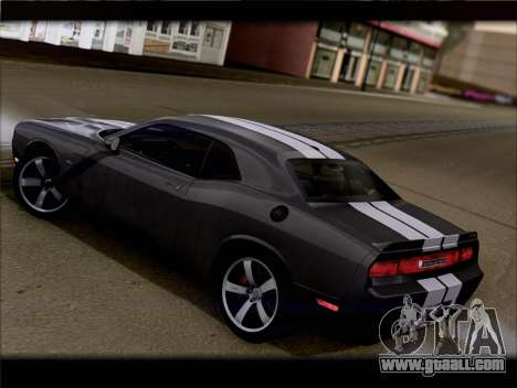 Dodge Challenger SRT8 2012 HEMI for GTA San Andreas back left view
