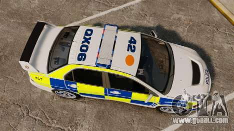 Mitsubishi Lancer Evolution IX Police [ELS] for GTA 4 right view
