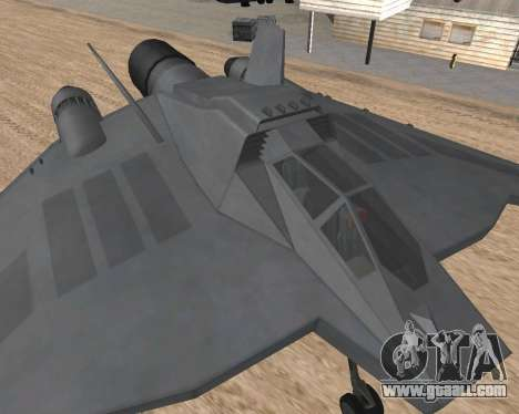 StarGate F-302 for GTA San Andreas back left view