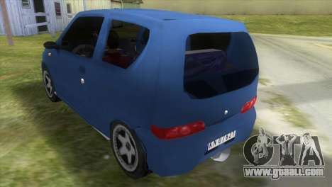 Fiat Seicento for GTA Vice City back left view