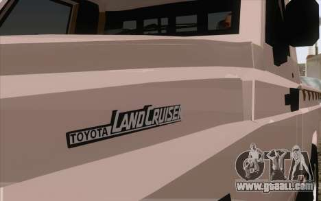 Toyota Fj70 2007 Pick Up for GTA San Andreas back left view