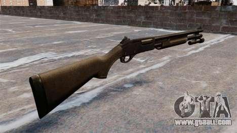 Pump-action shotgun Remington 870 Wingmaster for GTA 4 second screenshot