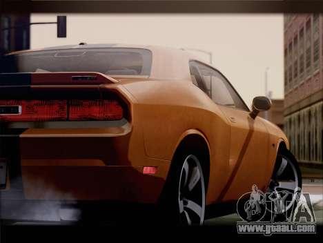 Dodge Challenger SRT8 2012 HEMI for GTA San Andreas back view