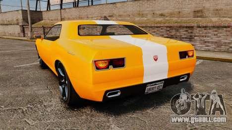 GTA V Gauntlet 450cui Turbocharged for GTA 4 back left view