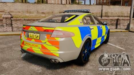 Jaguar XFR 2010 West Midlands Police [ELS] for GTA 4 back left view