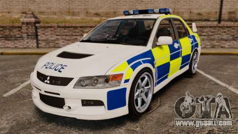Mitsubishi Lancer Evolution IX Police [ELS] for GTA 4
