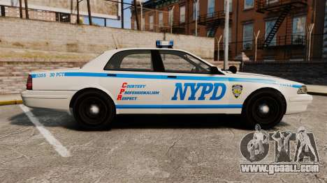 GTA V Vapid Police Cruiser NYPD for GTA 4 left view