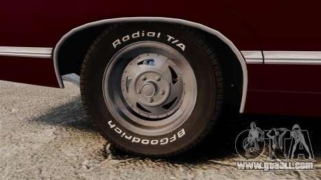 Chevrolet Impala 1967 for GTA 4 back view