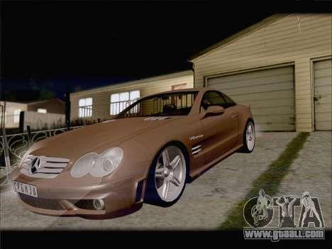 Mercedes SL500 v2 for GTA San Andreas inner view