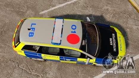 Audi S4 Avant Metropolitan Police [ELS] for GTA 4 right view