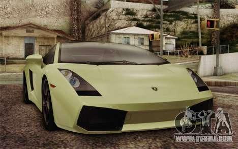 Lamborghini Gallardo SE for GTA San Andreas back view