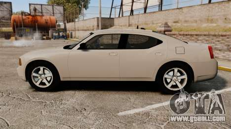 Dodge Charger Unmarked Police [ELS] for GTA 4 left view