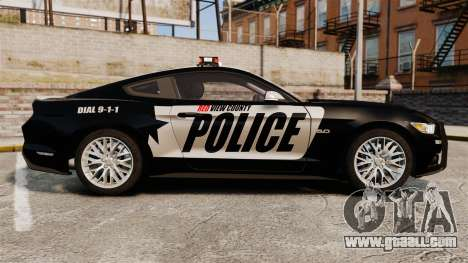 Ford Mustang GT 2015 Police for GTA 4 left view