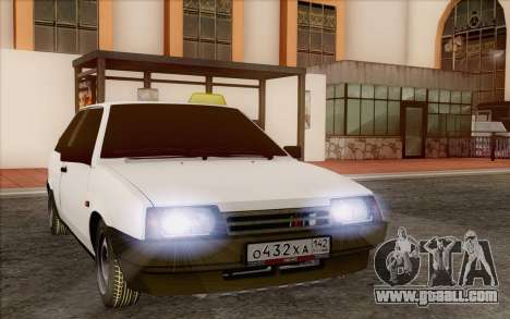 VAZ 2108 Taxi for GTA San Andreas back view