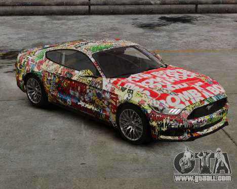 Ford Mustang GT 2015 Sticker Bombed for GTA 4 back left view