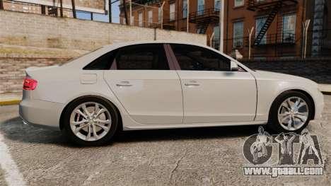 Audi S4 2010 for GTA 4 left view