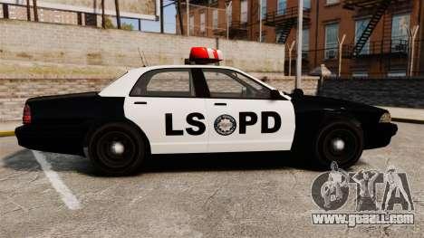 GTA V Vapid Police Cruiser LSPD for GTA 4 left view