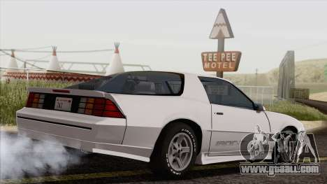 Chevrolet Camaro IROC-Z 1989 FIXED for GTA San Andreas left view