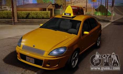Declasse Premier Taxi for GTA San Andreas back left view