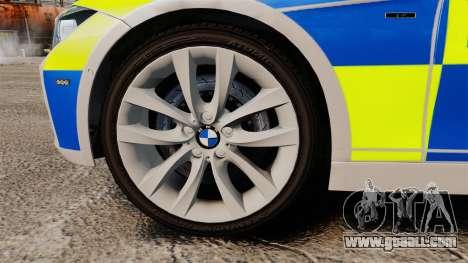 BMW F30 328i Metropolitan Police [ELS] for GTA 4 back view