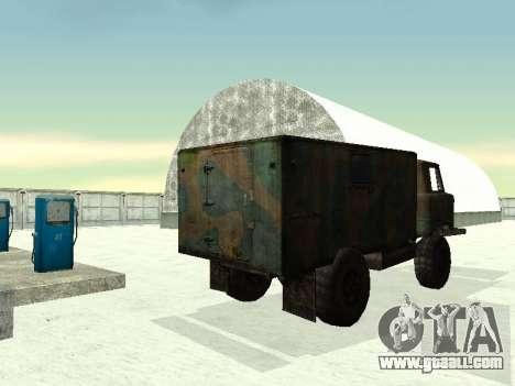 GAZ 66 for GTA San Andreas back view
