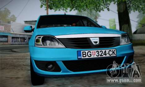 Dacia Logan for GTA San Andreas right view