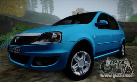 Dacia Logan for GTA San Andreas upper view