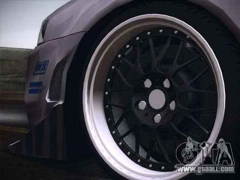 Nissan Skyline R34 FnF for GTA San Andreas back view