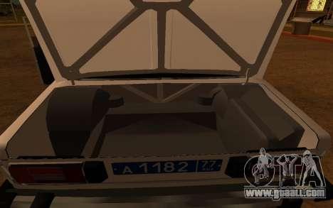 VAZ 2106 DPS for GTA San Andreas inner view