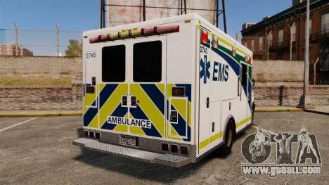 Brute Alberta Health Services Ambulance [ELS] for GTA 4 back left view