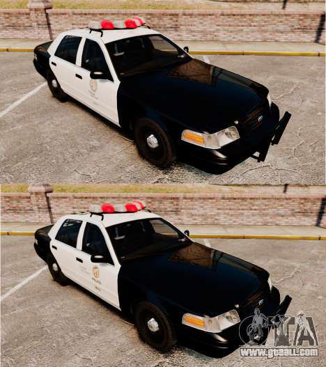 Ford Crown Victoria 1999 LAPD & GTA V LSPD for GTA 4 inner view