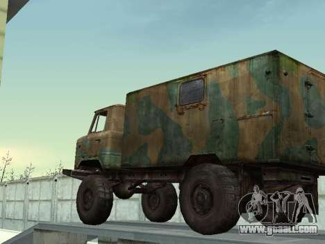 GAZ 66 for GTA San Andreas side view