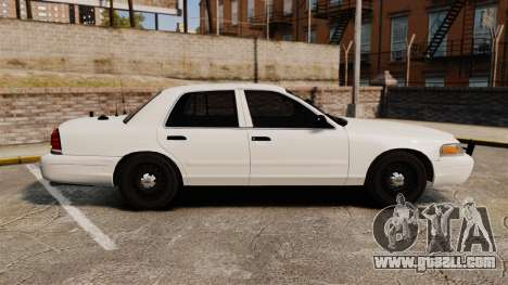 Ford Crown Victoria 1999 Unmarked Police for GTA 4 left view