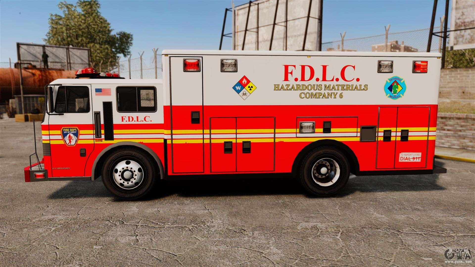 Hazmat Truck FDLC ELS For GTA 4