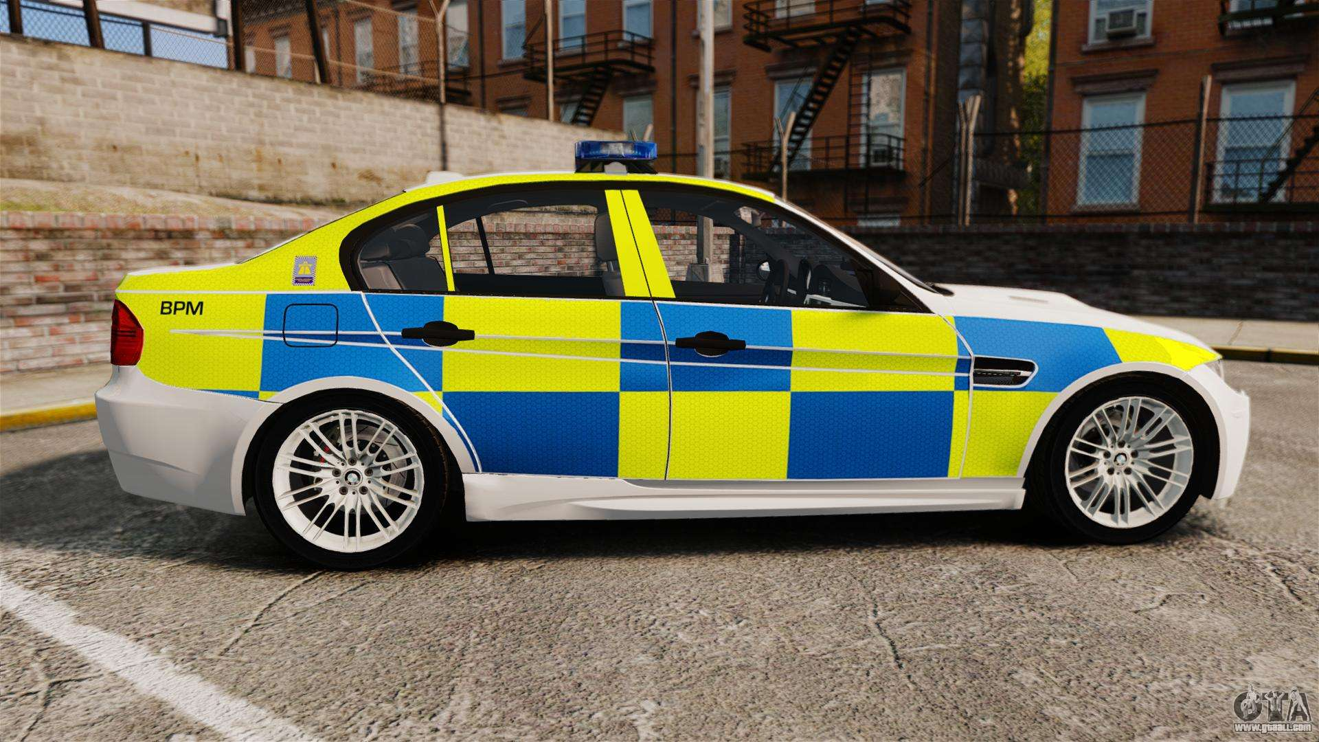BMW M3 British Police [ELS] for GTA 4