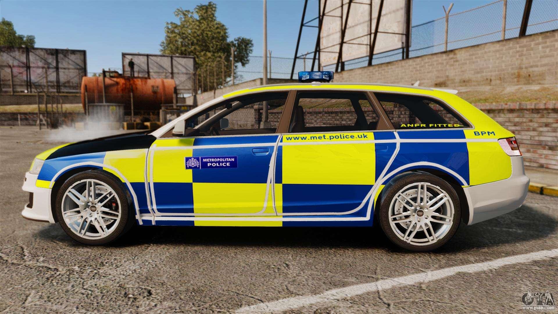 Audi Rs6 Avant Metropolitan Police Els For Gta 4