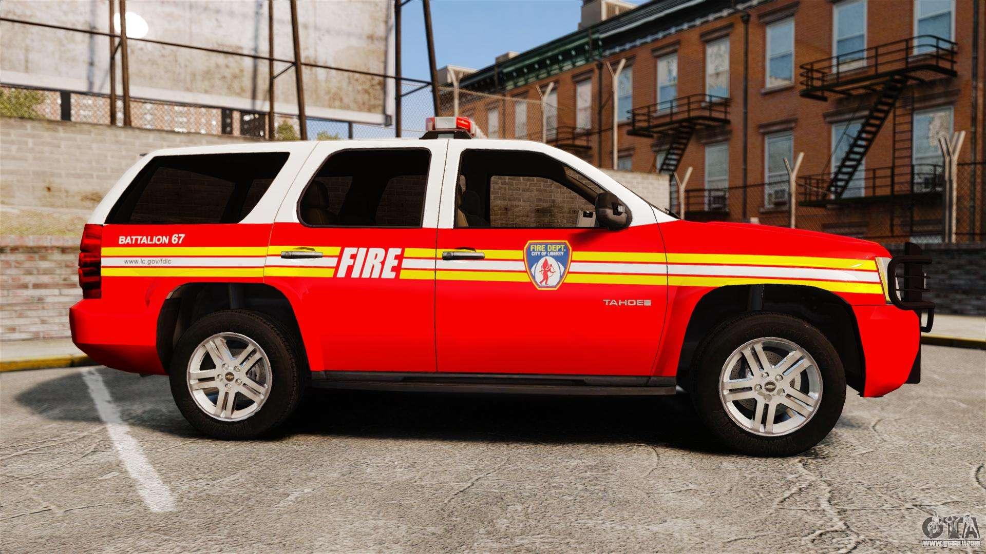 chevrolet tahoe fire chief v1 4 els for gta 4. Black Bedroom Furniture Sets. Home Design Ideas