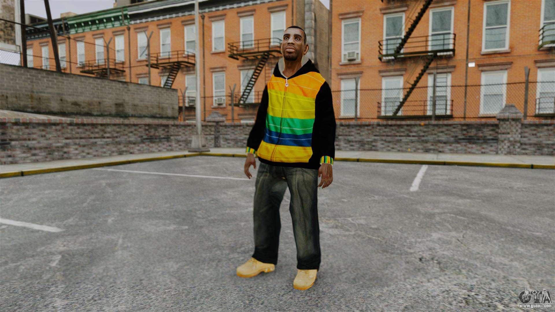 Black Sweatshirt For Playboy X For GTA 4