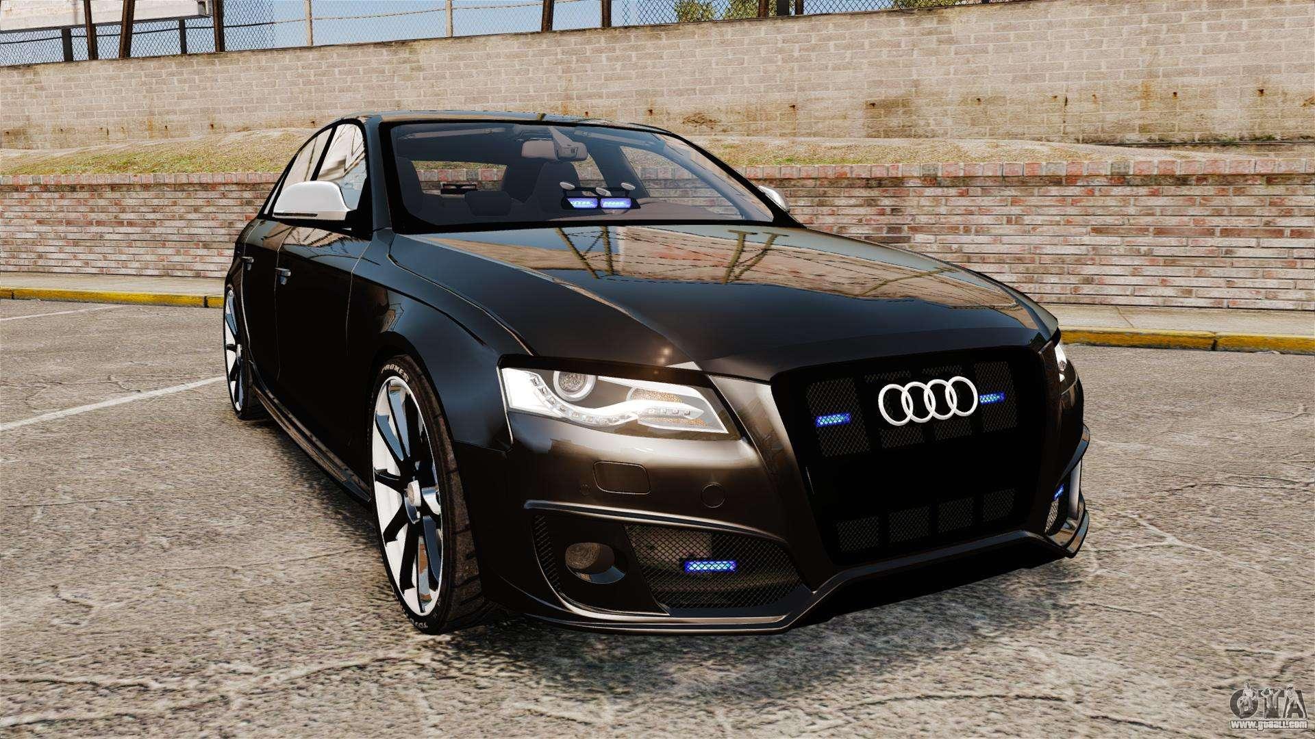 Audi S Unmarked Police ELS For GTA - Audi car gta 5