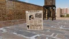 Cocktail Molotov-Newspaper- for GTA 4
