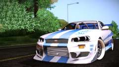 Nissan Skyline R34 FnF for GTA San Andreas