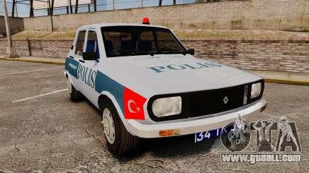 Renault 12 Turkish Police [ELS] for GTA 4