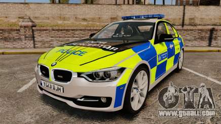 BMW F30 328i Metropolitan Police [ELS] for GTA 4