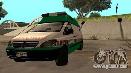 Mercedes-Benz Vito Ambulancia ACHS 2012 for GTA San Andreas