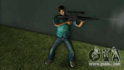 M-16 with a Sniper Gun for GTA Vice City