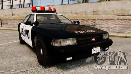 GTA V Vapid Police Cruiser LSPD for GTA 4