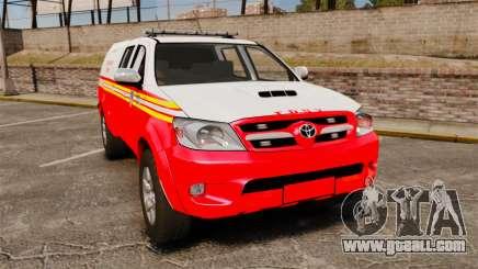 Toyota Hilux FDNY v2 [ELS] for GTA 4