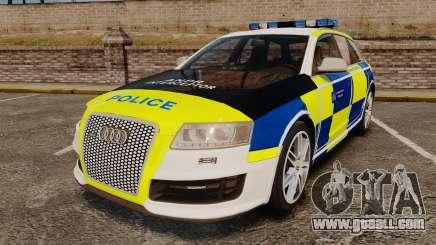 Audi RS6 Avant Metropolitan Police [ELS] for GTA 4